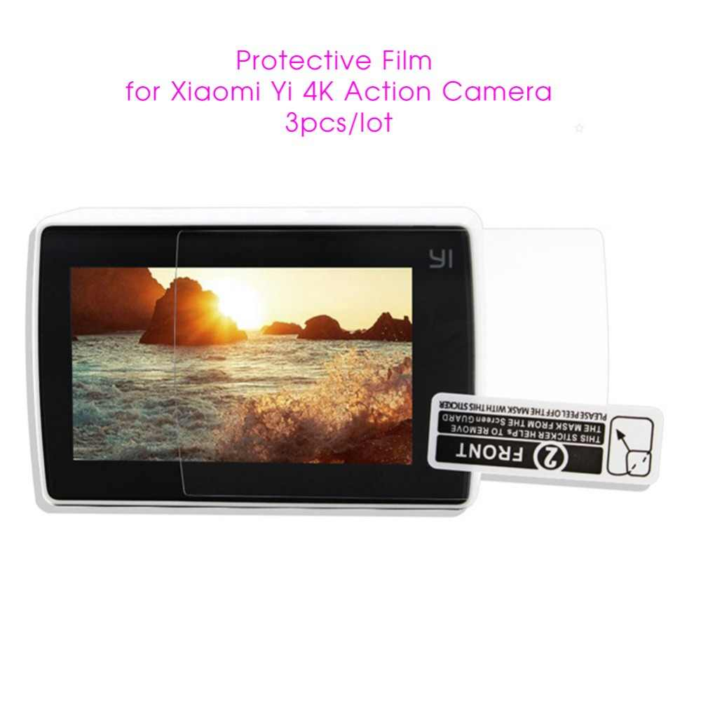 3pcs Xiaoyi Sport Camera Screen Protectors Film Protect Camera LCD Display for Xiaomi Yi 4k /4K Plus Action Camera Accessories