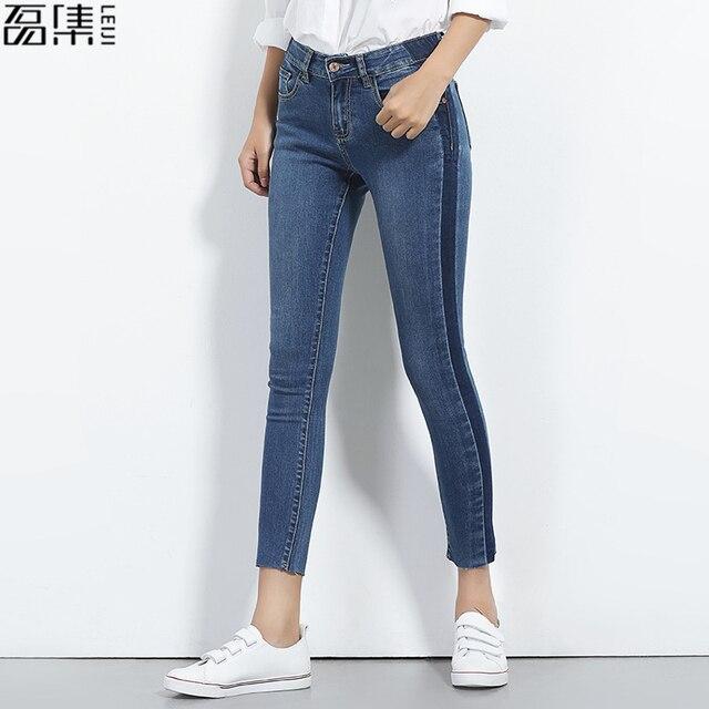 2018 summer jeans woman plus size skinny  ankle length   Female denim pencil Pants 6XL