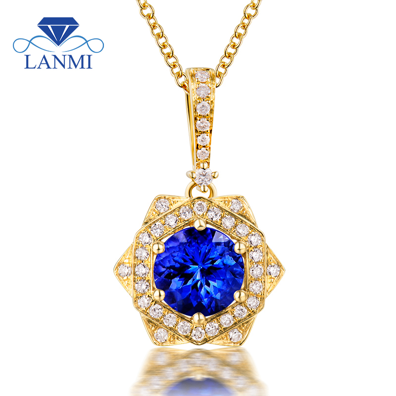New oval tanzanite pendant necklace natural diamond14kt yellow oval tanzanite pendant necklace natural diamond14kt yellow gold fantastic wedding fine jewelry for wife christmas gift in pendants from jewelry aloadofball Gallery