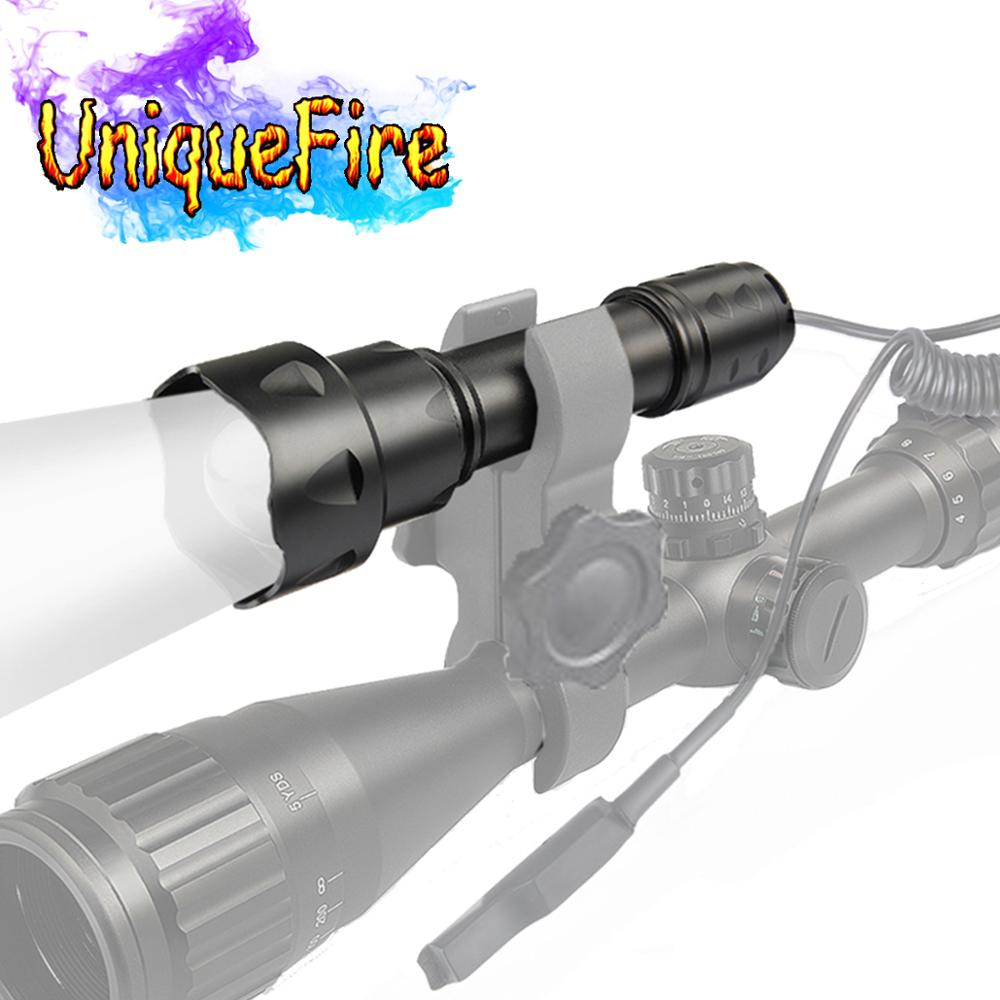 UniqueFire T20 IR LED Infrared Flashlight, 3 Mode Torch Zoomable Night Vision Light by 18650 Battery