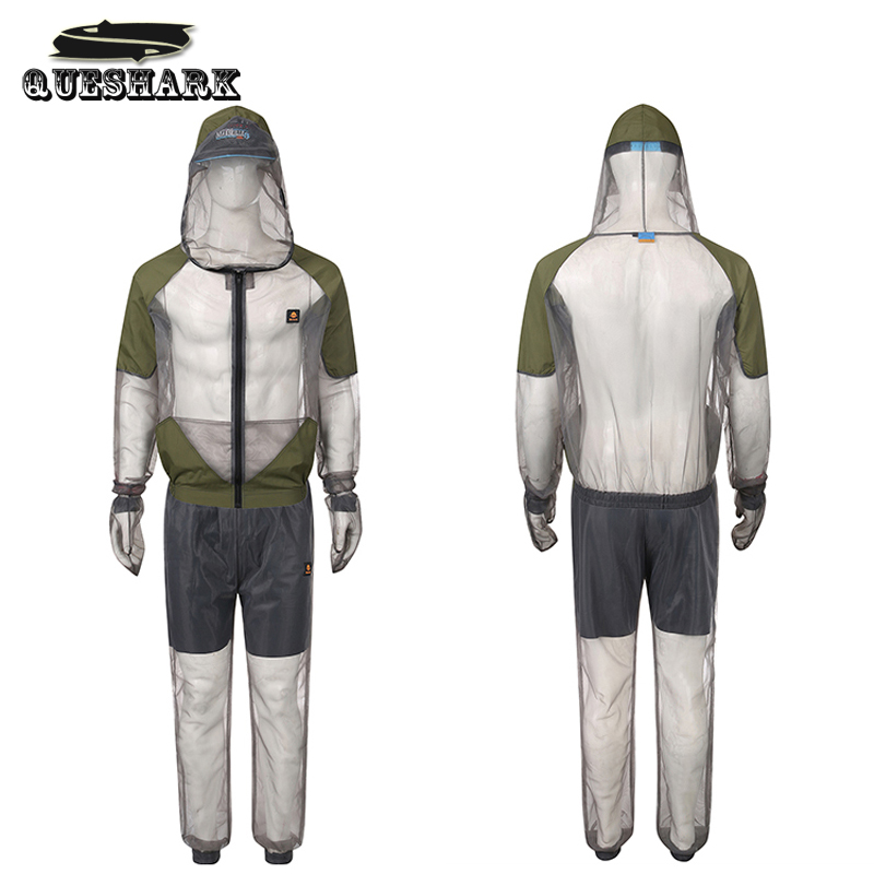 Outdoor Fishing Anti Mosquito Clothes Hiking Shirt Suit Breathable Fishing Hat With Mesh Net Beekeeping Clothe Anti Fly Clothing