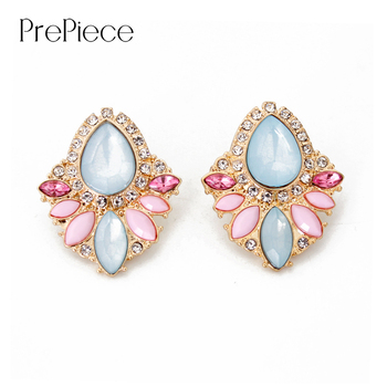 PrePiece Brand Fashion Gold Color Post Stud Earrings 2017 New Fashion Vintage Jewelry for Women Boucle D'Oreille Gift Hot PE0256