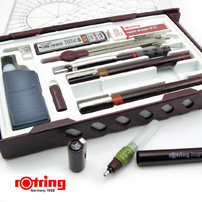 Original Rotring needle pen kit Germany rotring pen kit can add ink MASTER 0 2 0