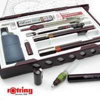 オリジナルrotring針ペンキットドイツrotringペンキット追加することができマスター0.2 0.3 0.5