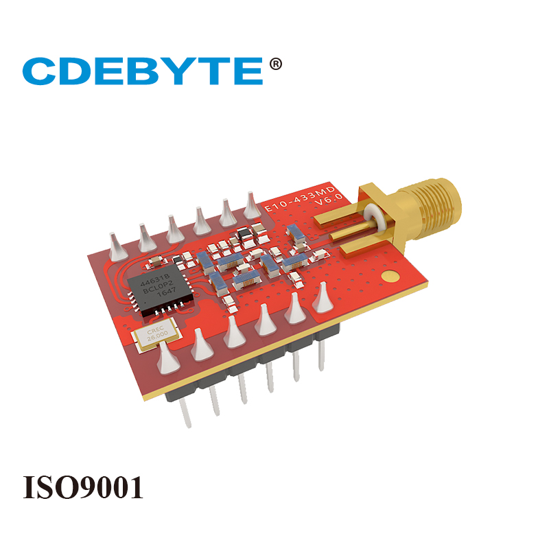 E10 433MD SMA Long Range SI4463 433mhz 100mW SMA Antenna IoT uhf Wireless Transceiver Transmitter Receiver 433 mhz rf Module in Telecom Parts from Cellphones Telecommunications