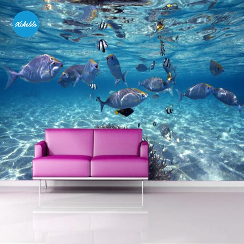 XCHELDA Custom 3D Wallpaper Design Sea World Photo Kitchen Bedroom Living Room Wall Murals Papel De Parede Para Quarto kalameng custom 3d wallpaper design street flower photo kitchen bedroom living room wall murals papel de parede para quarto