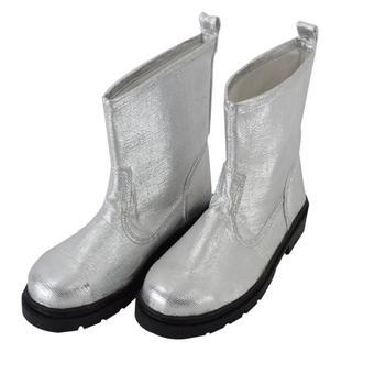 000 graden Isolatie Laarzen Aluminiumfolie Isolerende Brandbestrijding Veiligheid Laarzen Warmte Proof Schoenen Hoge Temperatuur Werkschoenen