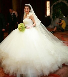 New Design Dream Wedding Dress Luxury Tube Top Heart Shaped Bridal The Whole Diamond