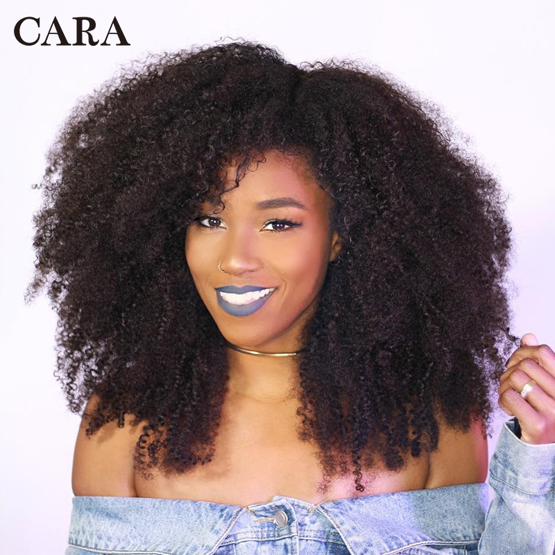 Image 5 - Mongolian Afro Kinky Curly Hair Human Hair Bundles 4B 4C Hair Weave Remy Natural Human Hair Extension CARA Products 1&3 Bundles-in Hair Weaves from Hair Extensions & Wigs