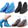 New Men Women Rain Waterproof Flat Ankle Boots Cover Thicker Non-slip Platform Rain Heels Shoes Covers  BS88