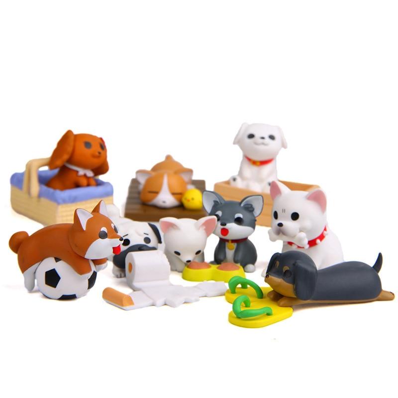 Image 3 - Artificial Puppy Model Mini Dog figurine cartoon animal fairy garden home miniature ornament desk decoration DIY accessory-in Figurines & Miniatures from Home & Garden