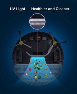Image 4 - LIECTROUX ZK808 робот пылесос , WiFi App управление, картография,Гироскоп навикация, с памятью, УФ лампа, влажная и сухая уборка, моющий, всасывание 3000па,безщеточный мотор