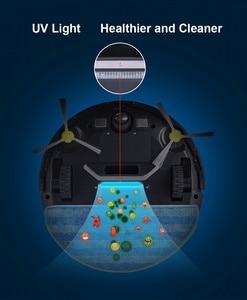 Image 4 - Robot Vacuum Cleaner ZK808 LIECTROUX, WiFi App, Mapa de Navegação, a Memória Inteligente, UV Esterilizar, mop Seco molhado, Sucção 3KPa, Motor Brushless