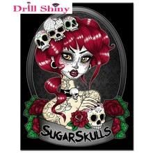 Handmade needlework diy diamond painting kit diamond embroidery full  rhinestone cross stitch diamond Mosaic Sugar skull 67320b0c13bf