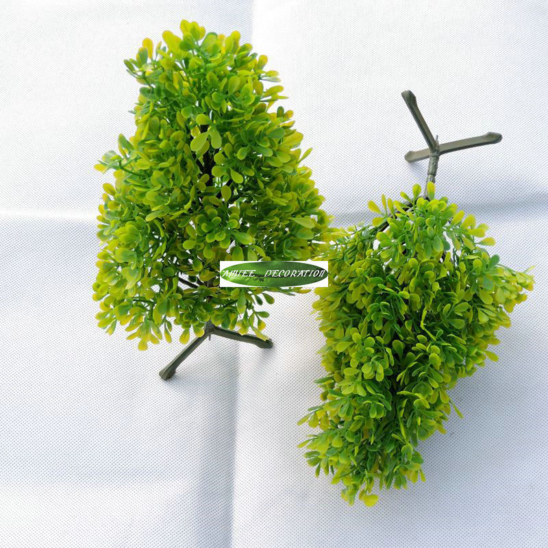 30CM Plastic Milan Artificial Plants Tree Wedding Home Decor Green F1423
