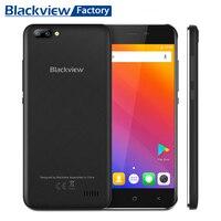 Vente chaude BLACKVIEW A7 Android 7.0 smartphone Double Caméra Arrière Quad core 5.0 ''HD IPS Téléphone Portable 1 GB + 8 GB GPS WIFI 3G mobile téléphone