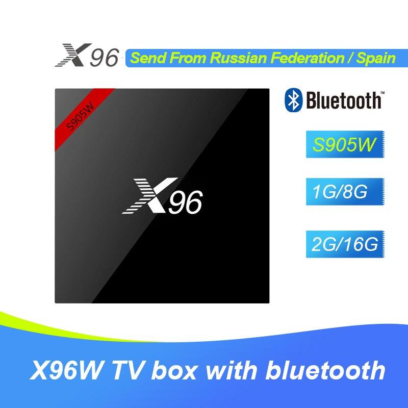 Nouveau X96 S905W TV Boîte X96W Android 7.1 Amlogic Quad Core 1G8G/2G16G Soutien 2.4 ghz WiFi Bluetooth HD 4 k Set-top Box PK X92