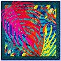 2016 весна женщины шарф тонкий классический дизайн мода цветочные женщины платок 100 см большой площади шарфы 100% саржевые шелковый пашмины