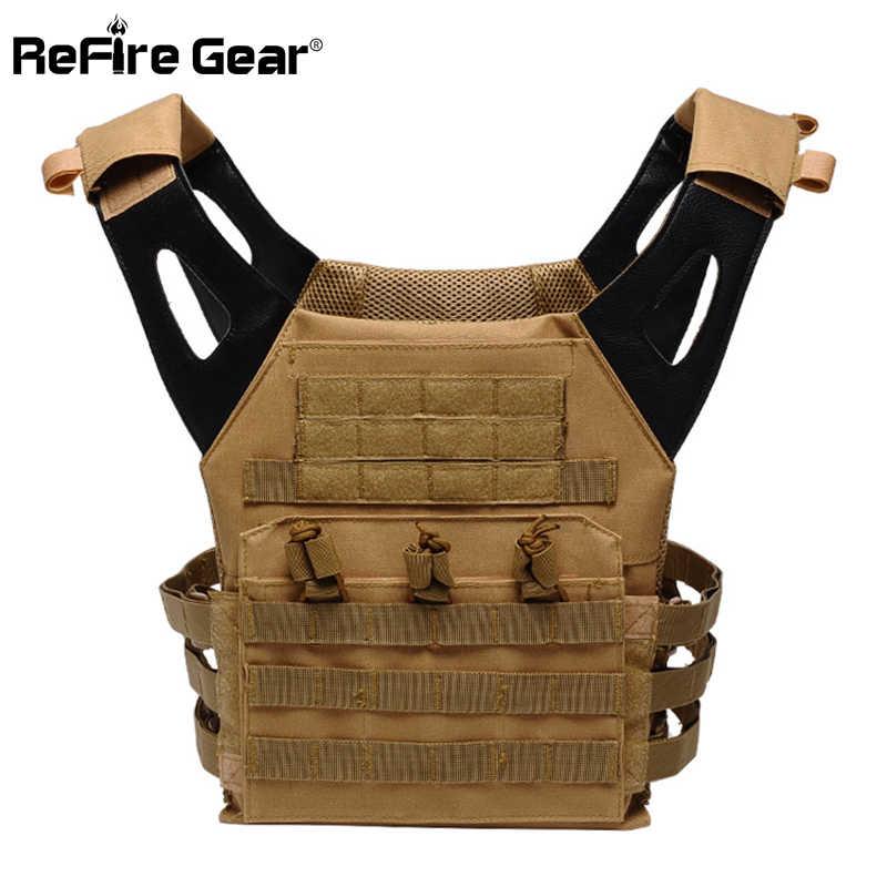 ReFire Gear de camuflaje de Paintball de movimiento rápido para hombres, chalecos especiales del ejército Molle