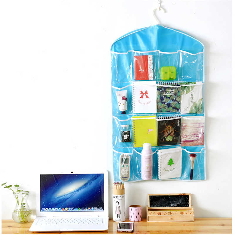 Sundries jewelry Hanging  Storage Bags Package Sock  Bra Box Door Mounted Wardrobe Hang Bag Wall Pouch Cosmetic Toys Organizer