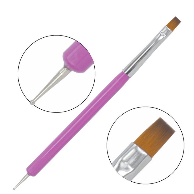 1 pcs Nail Art Design Brushes Set Painting Pen Polish Tips Hot DIY Carving Nail Pen maquiagem Beauty Dropship 3.21