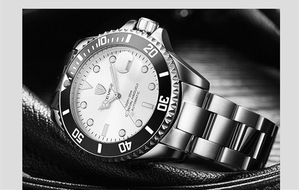 HTB1fDKwKuuSBuNjSsziq6zq8pXa9 Tevise Luxury Waterproof Automatic Men Mechanical Watch Auto Date Full Steel Business Top Brand Man Watches Water Resistant T801
