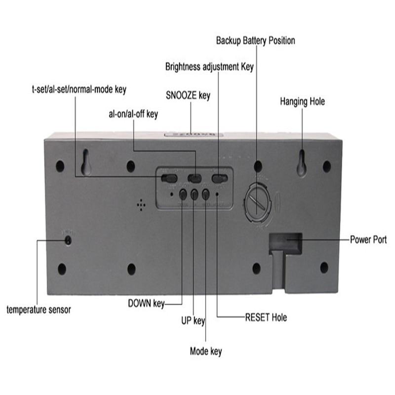 Big Offer #5492 Alarm Clock Luminova Desktop Clock Digital