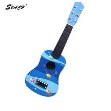 SOACH Kid s animal floral motifs ukulele guitar factory direct wholesale bass acoustic guitar 6 string