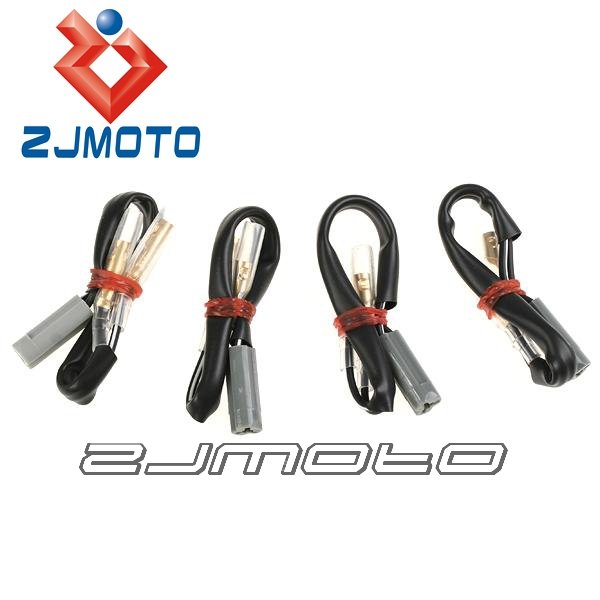 Motorcycle Wire Harness Connectors : Pcs motorcycle oem turn signal wiring adapter plug