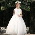 Varejo Hot! mundo de conto de fadas da princesa trajes de alta qualidade meninas vestido de renda vestido de casamento da menina de flor das crianças roupa dos miúdos