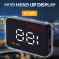 Car HUD OBD2 Head Up Display Km/H MPH TEMP Alarm Speedometer Fatigue Warning 12V