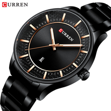 CURREN Men Watch Black Ultra-thin Date Analog Stainless Steel Strap Casual Sport Military Quartz Watches Gifts Relogios Dropship цена