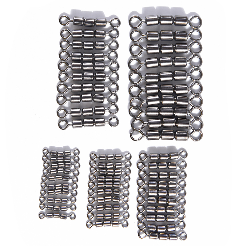 JULYHOT 10pcs/lot High Speed Strength Fishing Triple Rolling Swivel Barrel Connector Size2 4 6 8 10 Fishing Tackle Accessories