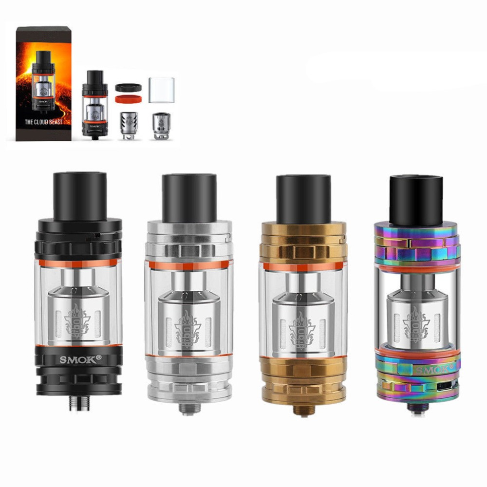 Portable Electronic Cigarette TFV8 Cloud Beast Tank Atomizer Top Filling System 6ML Tank With Sub Coil Heads Kit(China)