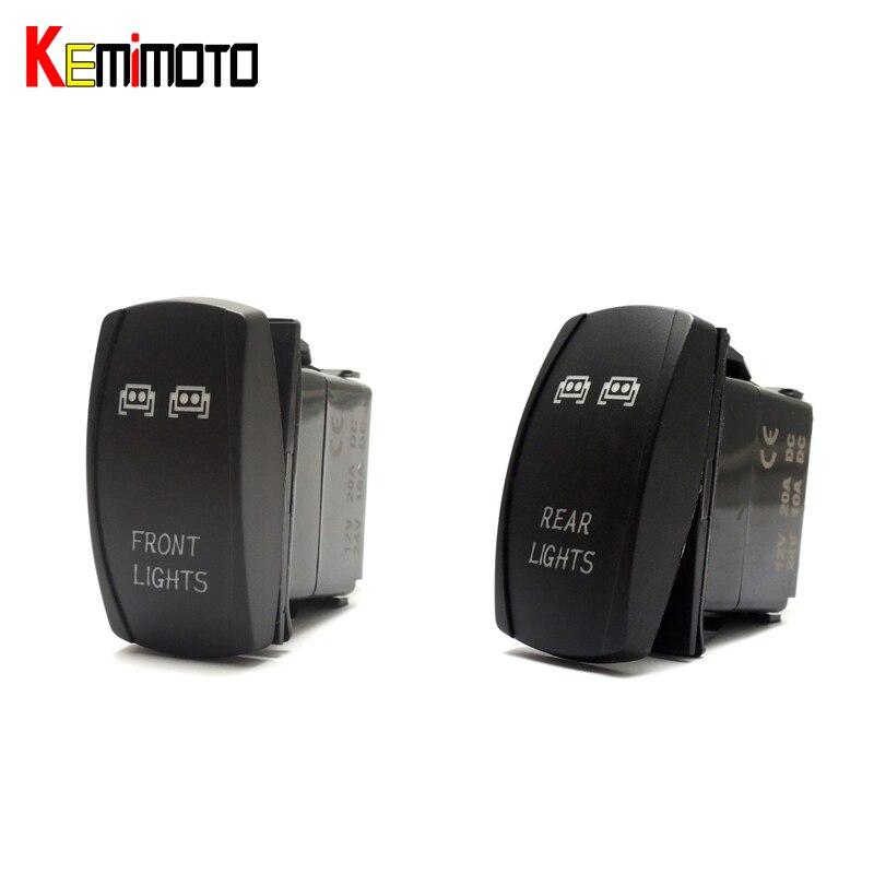 KEMiMOTO 1 SET For Polaris RZR XP 1000 UTV Blue Ranger Rocker Switch Backlit LED Front and Rear Light Switch 2015 For Yamaha