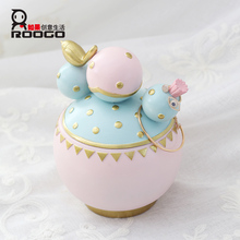 Roogo macaron catcus jewelry box decorative casket art crafts youtuber instant online celebrities favorite items