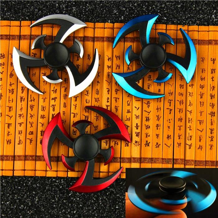 New Fidget Gyroscope Spinner Naruto Finger Tri Spinner Darts Metal Hand Spinner Model EDC Stuffer For Kid/Adult Antistress Toys