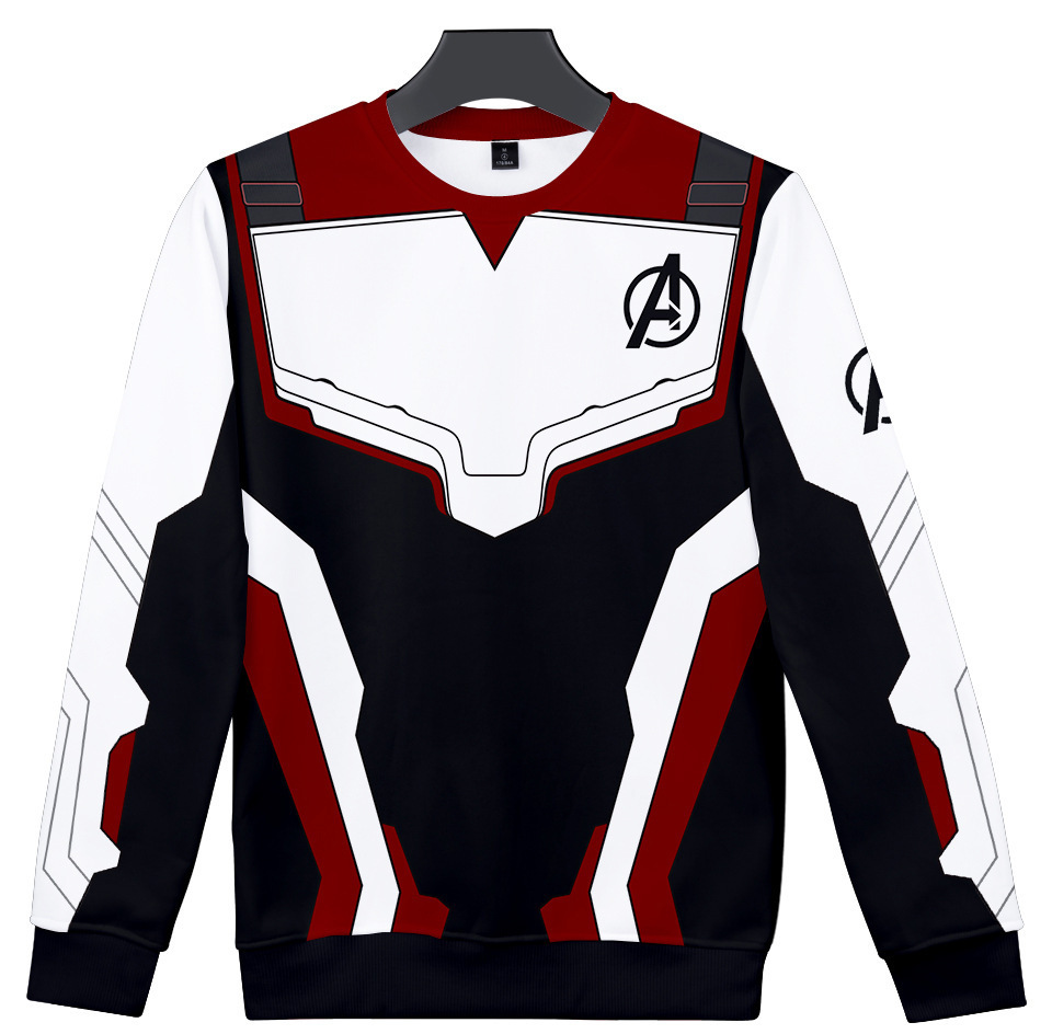 Avengers Endgame Cosplay Costumes Superhero Deadpool Quantum Realm Sweatshirts Long T-shirt Tee Daily Casual Sweater Tops