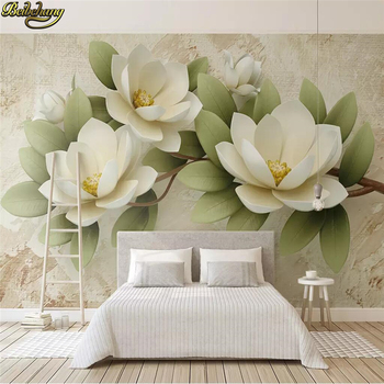 цена на beibehang custom Embossed flowers Photo Wallpaper For Walls 3D Mural Painting Bedroom TV Background Home Decor mural Wall Paper