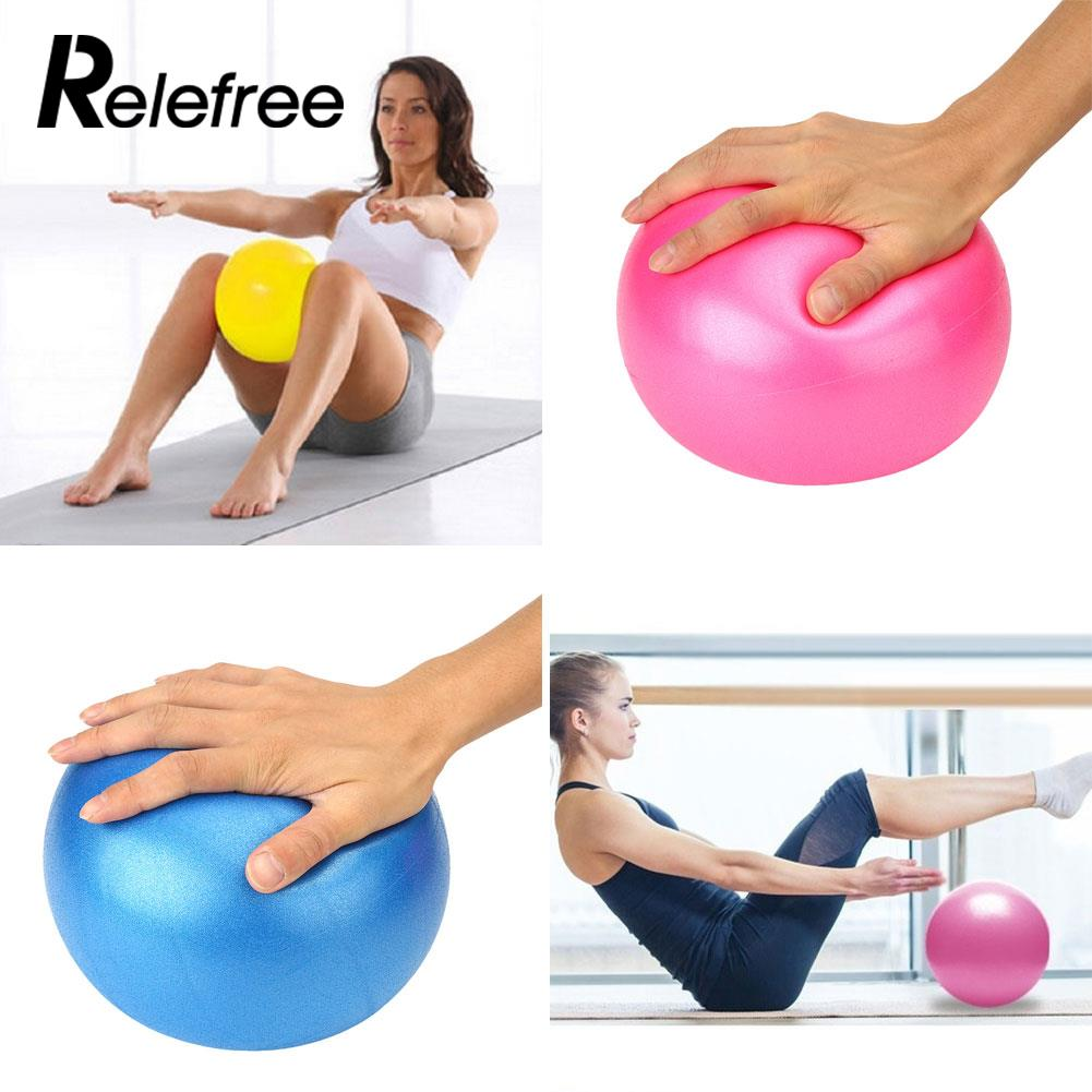 25cm Yoga Inflatable Ball Fitness Air Ball trainers for Fitness Appliance Exercise Training Balance Pilates PVC Sport