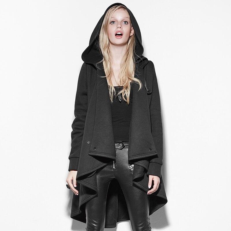 New gray hooded cloak, cloak, shawl, winter and winter, big size, long irregular punk girl