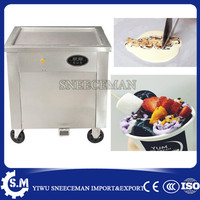 50cm thailand square pan ice roll machine Automatic temperature control rolled fried ice cream machine with foot defrost