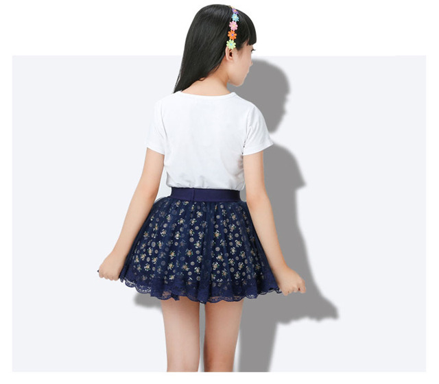 Children Clothing Tutu Pettiskirt Mini Short Skirts Cotton Short Casual 2017 New Dance Skirt