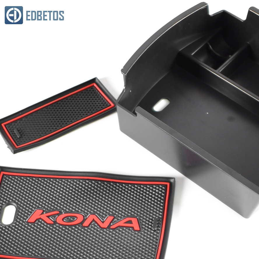Image 4 - EDBETOS Kona Armrest Storage Box For Hyundai Kona Encino 2018 2019 Kona Center Console Container Bin Tray-in Stowing Tidying from Automobiles & Motorcycles