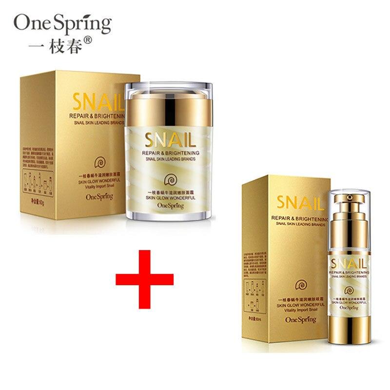 OneSpring Natürliche Schnecke Creme + Feuchtigkeitsspendende Schnecke Augen Creme Feuchtigkeitsspendende Anti Aging Anti Falten Schönheit Gesichts Lifting Hautpflege