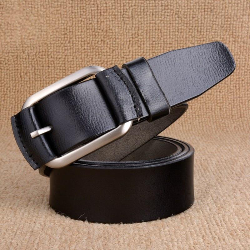 100% peau de Vache Véritable ceintures en cuir pour hommes marque Sangle mâle  boucle ardillon 6edfda123ad