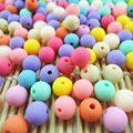 6.8.10.12.14mm Acrylic Round Gumball Neon Rubber Spacer Beads Wholesale Mixed Color DIY Jewelry Making