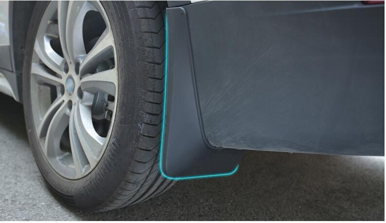 Pour BMW X1 F48 2016 2017 bavettes en plastique noir garde boue garde garde-boue 4 pièces modification de voiture