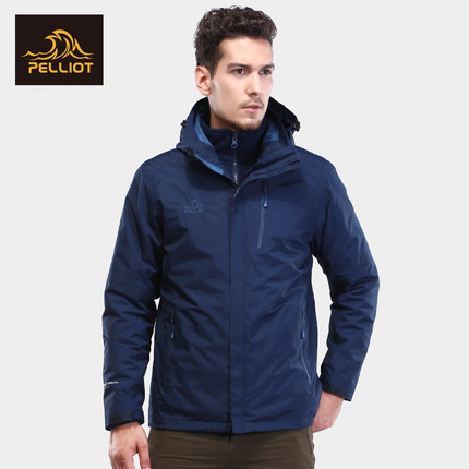 PELLIOT Outdoor Jackets Men's Tide Brand Jacket Three-in-one Thickening Fleece Two-piece Mountaineering Clothing Male Ski jacket все цены