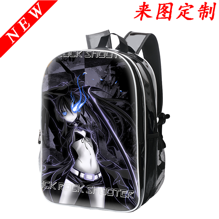 Anime BLACK ROCK SHOOTER Cosplay Anime backpack Korean college style pu female male student bag birthday gift anime tokyo ghoul cosplay male and female students bag korean couples anime leisure pu leather backpack child birthday gift page 1 href
